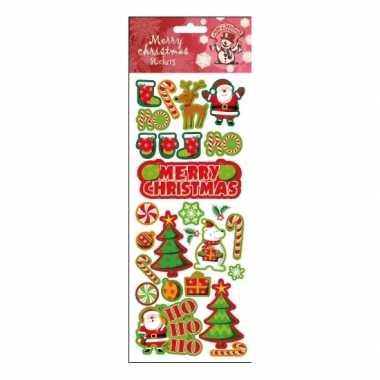 Kerstcadeau stickervel