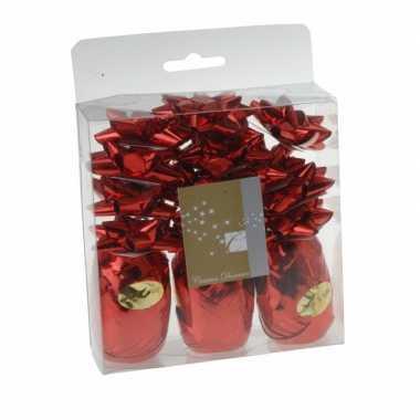 Kerstcadeau versiering rood 15 delig