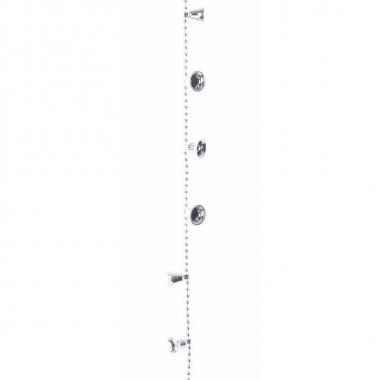 Kerstdecoratie bellen kralen ketting zilver 270 cm