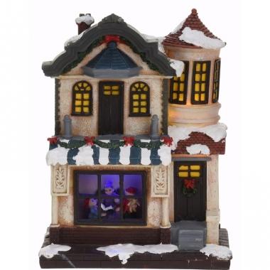 Kerstdorp maken kersthuisje met led licht type 2
