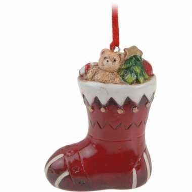 Kersthanger kerstsok 8 cm