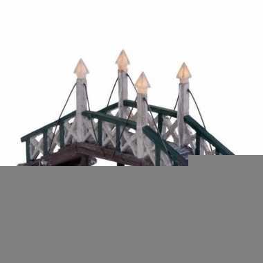 Kersthuisje accessoire verlichte brug uit hindeloopen