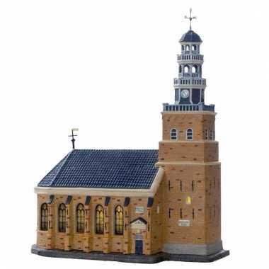 Kersthuisje kerk uit hindeloopen