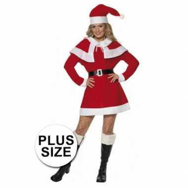 Kerstjurk dames rood grote maat