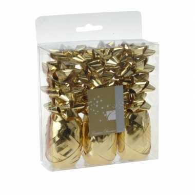 Kerstkado versiering goud 15 delig for Versiering goud