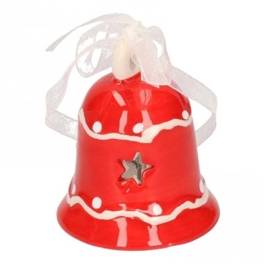 Kerstklokje rood decoratie