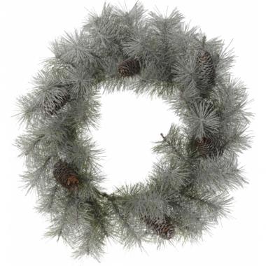 Kerstkrans met sneeuw 45 cm