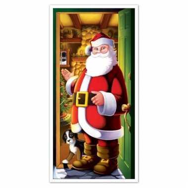 Kerstman deurposter 152 cm