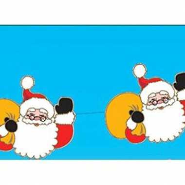 Kerstman kerstslingers 140 cm