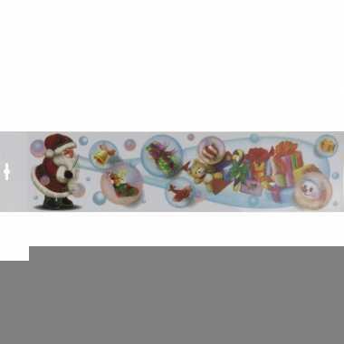Kerstman met bellenblaas raamsticker