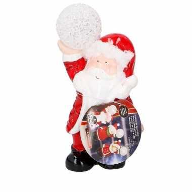 Kerstman met led kerst decoratie 17 cm