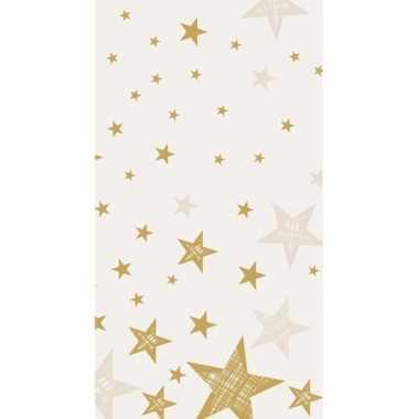 Kerstmis tafelkleed shining star cream