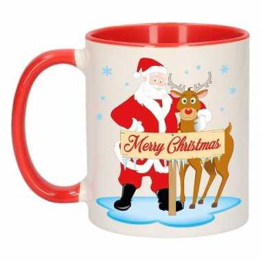 Kerstmok rudolph en santa 300 ml