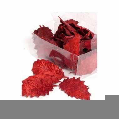 Kerststukje decoratie hulstblad rood