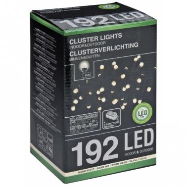 Kerstverlicht cluster warm wit 192 led