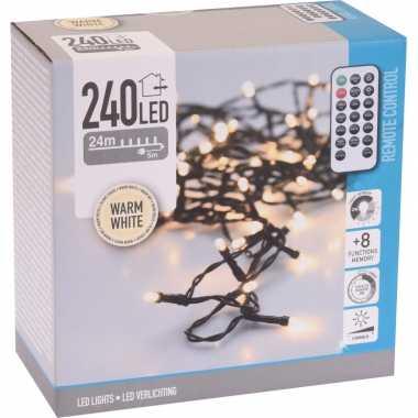 Kerstverlichting afstandsbediening warm wit buiten 240 lampjes