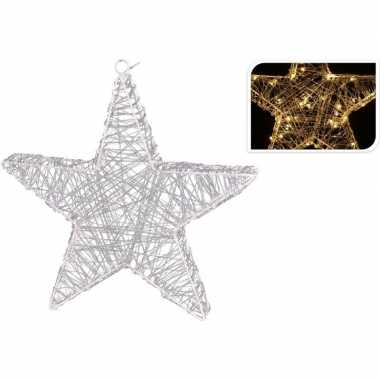 Kerstverlichting figuur ster 30 cm met 30 lampjes