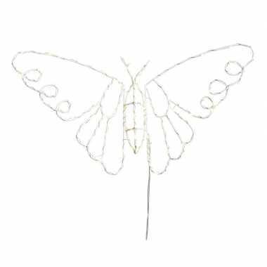 Kerstverlichting figuur vlinder 45 cm met 70 lampjes