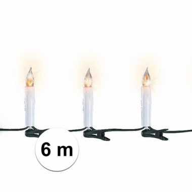 Kerstverlichting kaarsen binnen 15 lampjes