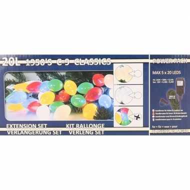 Kerstverlichting kaarsjes gekleurd buiten 500 cm lichtsnoer