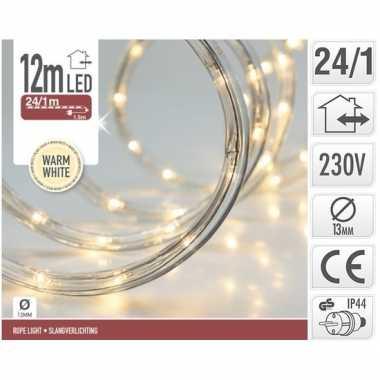Kerstverlichting lichtslang warm wit buiten 12 meter