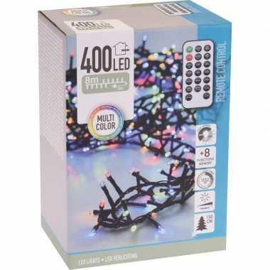 Kerstverlichting op afstandsbediening gekleurd 400 lampjes
