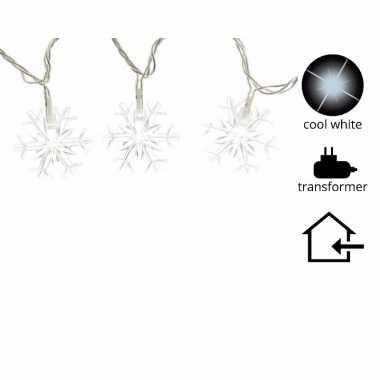 Kerstverlichting sneeuwvlok led koel wit binnen 7 m