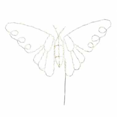 Kerstverlichting vlinder op led lampjes 45 x 25 cm