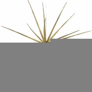 Kerstversiering ster goud hangdecoratie 17 cm