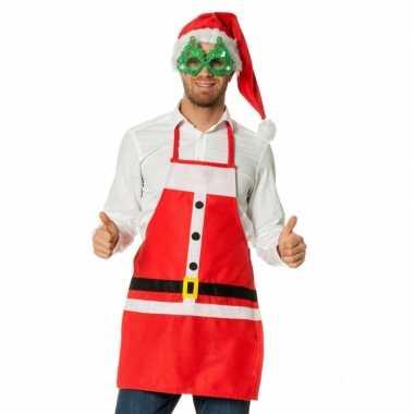 Keuken schort kerstman
