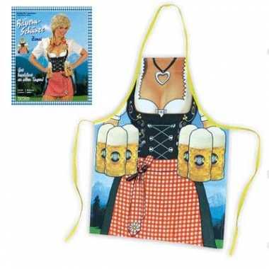 Keukenschort vrouw met heidi jurkje