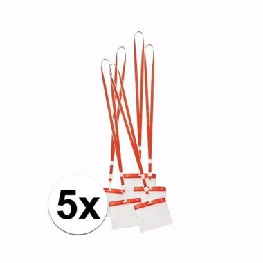 Keycord naamkaarthouder voor beurzen 11 2 x 58 cm trend 10089817