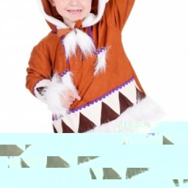 Kids eskimo kostuum compleet