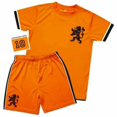 Kids oranje voetbal outfit