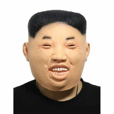 Kim jong un fun verkleed masker voor volwassenen