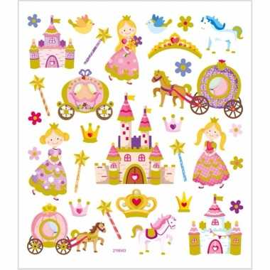 Kinder agenda stickers prinsessen