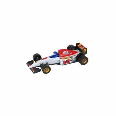 Kinder cadeau model speelgoed auto formule 1 wit