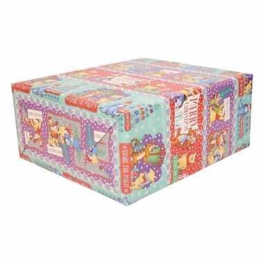 Kinder cadeaupapier winnie de poeh 1 stuk 70 x 200 cm trend