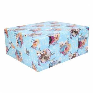 Kinder kerst kadopapier frozen 1 stuk 70 x 200 cm trend