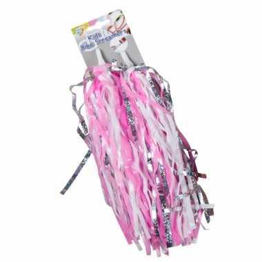 Kinderfiets handvat versiering slierten roze