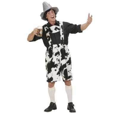 Koeienprint lederhose voor heren