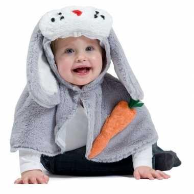 Konijn/haas verkleed cape voor baby/peuters