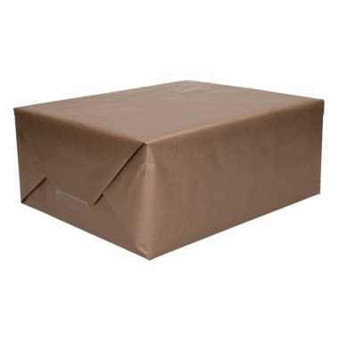 Kraft geschenkpapier bruin 70 x 200 cm trend