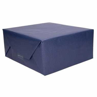 Kraft geschenkpapier donkerblauw 70 x 200 cm trend
