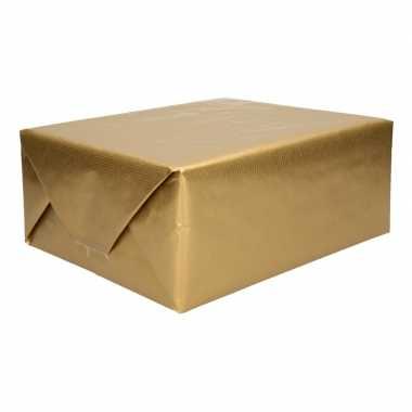 Kraft geschenkpapier goud 70 x 200 cm