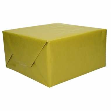 Kraft geschenkpapier groen 70 x 200 cm trend