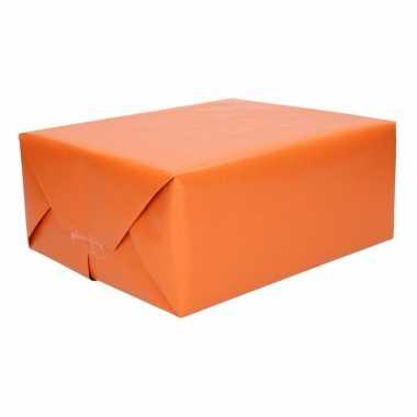 Kraft geschenkpapier oranje 70 x 200 cm trend 10084232