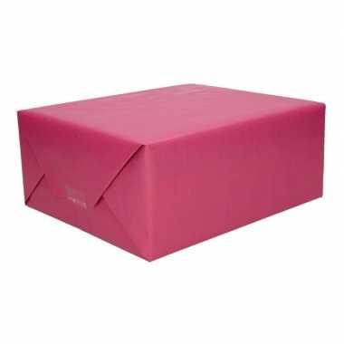 Kraft geschenkpapier paars 70 x 200 cm trend