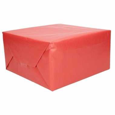Kraft geschenkpapier rood 70 x 200 cm