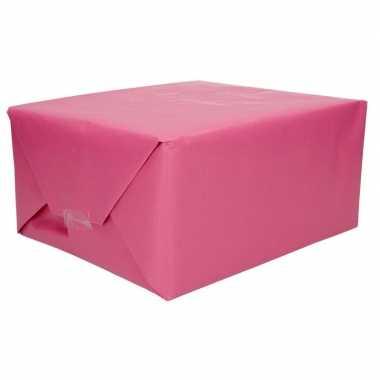 Kraft geschenkpapier roze 70 x 200 cm